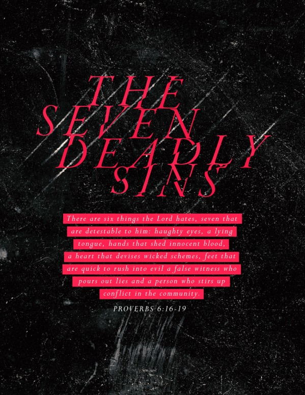 Seven Deadly Sins Church Flyer Template