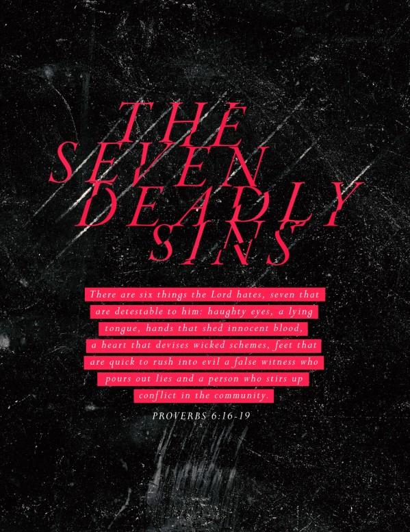 Seven Deadly Sins Church Flyer Template