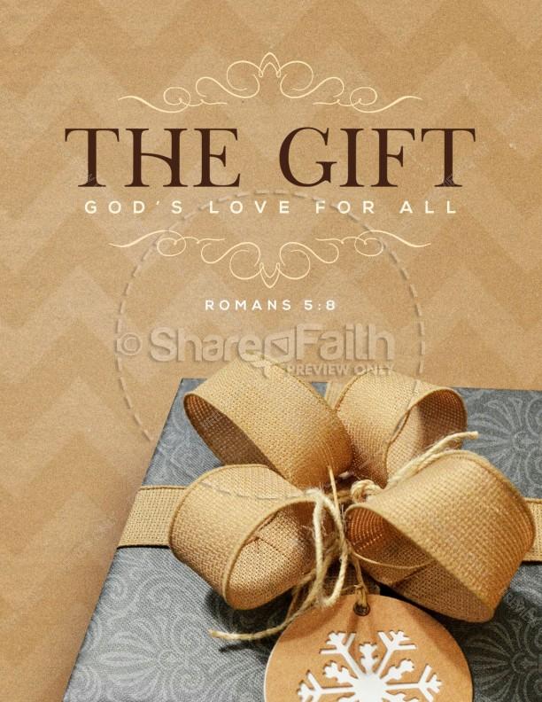 God's Gift Of Love Christmas Flyer