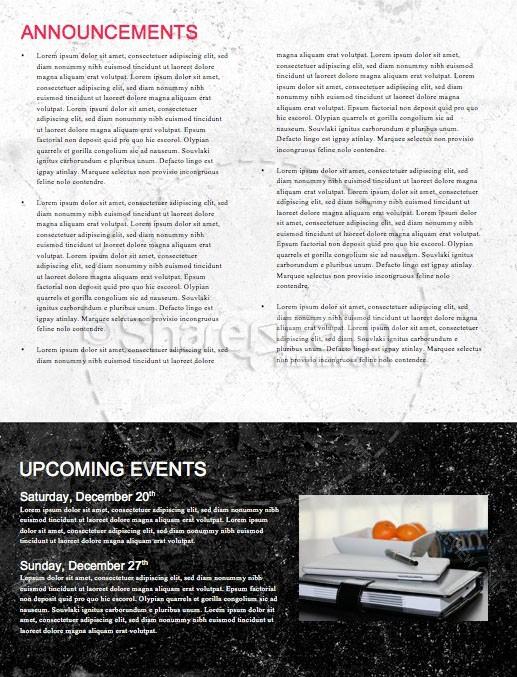 Seven Deadly Sins Church Newsletter Template