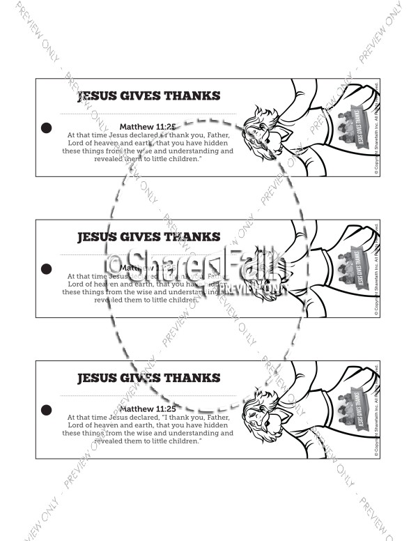 Matthew 11 Jesus Gives Thanks Bible Bookmarks