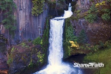 Waterfall Lagoon Nature Background Video