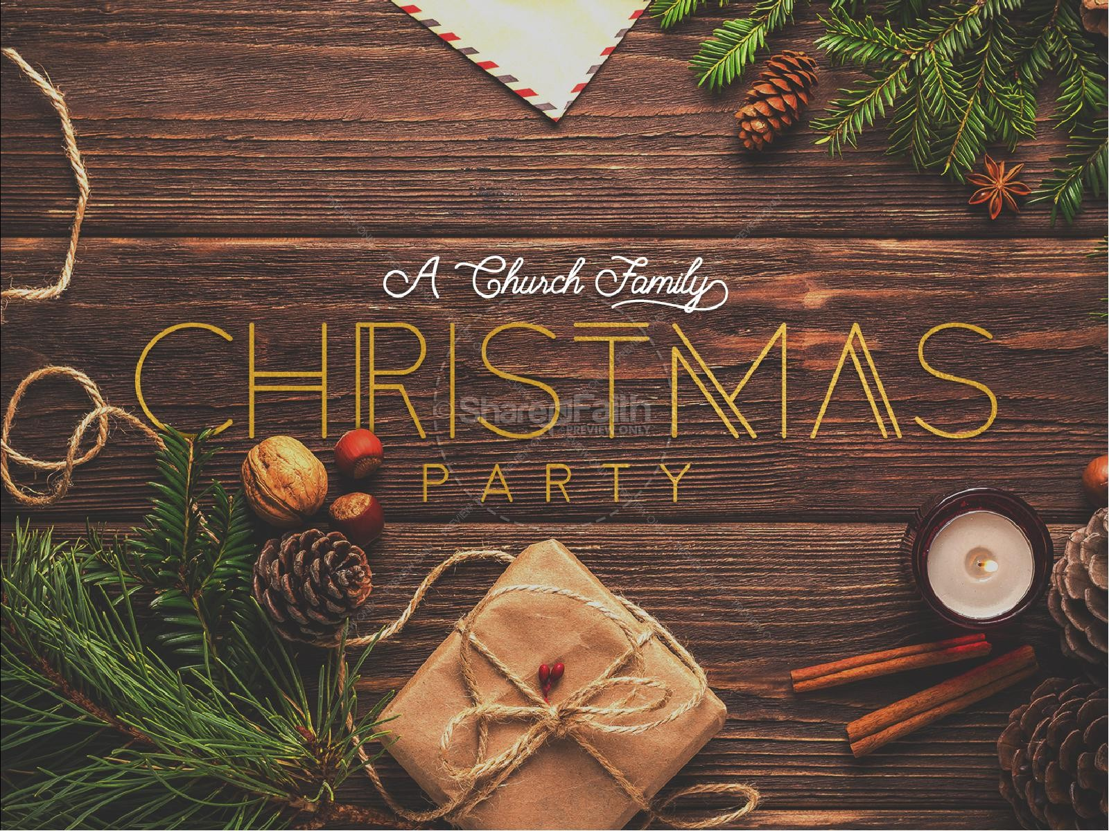 Church Christmas Party PowerPoint