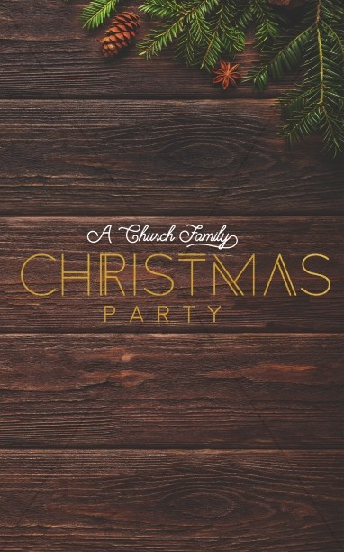 Church Christmas Party Bulletin Template