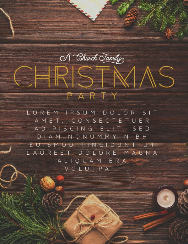 Church Christmas Party Flyer Template