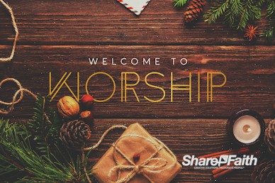 Church Christmas Party Welcome Motion Graphic
