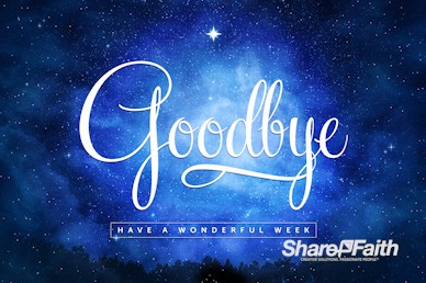 Silent Night Goodbye Christmas Motion Graphic