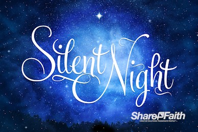 Silent Night Christmas Motion Graphic