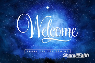 Silent Night Welcome Christmas Motion Graphic
