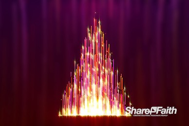 Christmas Tree Particle Fountain Worship Video