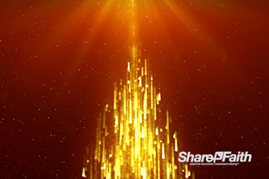 Christmas Tree Particle Shower Worship Video