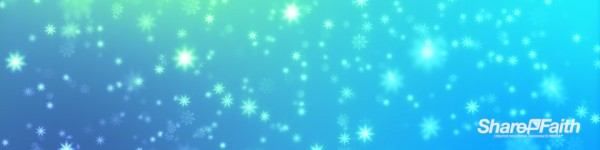 Radiant Christmas Snowflakes Multi Screen Worship Video