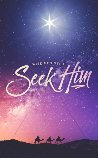 Wise Men Still Seek Him Christmas Bulletin Cover