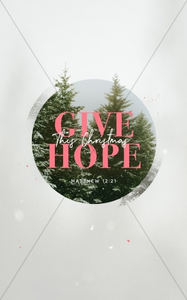 Give The Gift Of Hope Christmas Bulletin