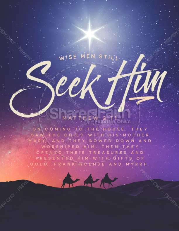 Wise Men Still Seek Him Christmas Flyer Template | page 1