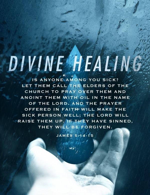 Divine Healing Church Flyer Template