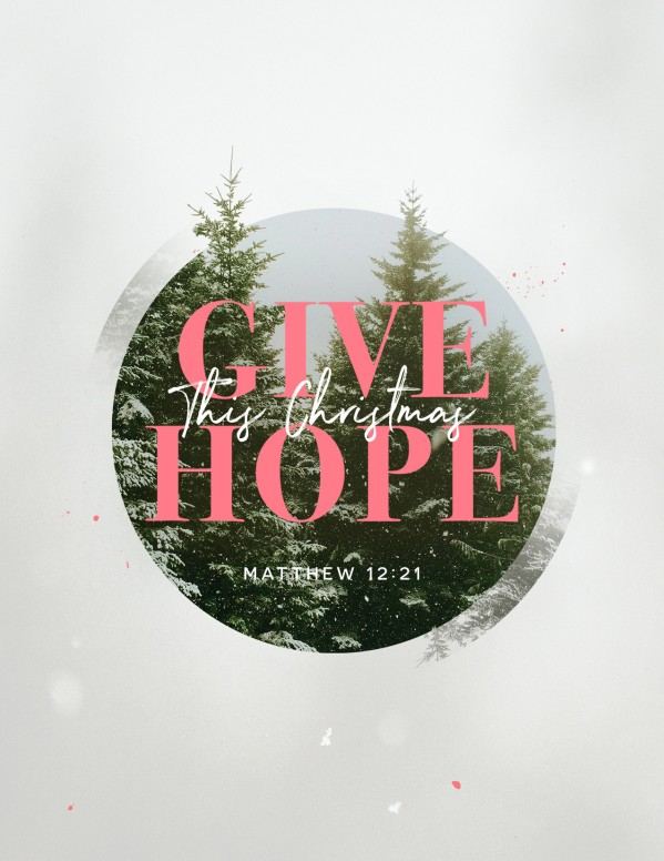 Give The Gift Of Hope Christmas Flyer