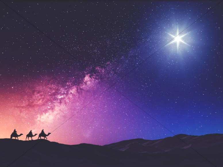 Wise Men Still Seek Him Christmas Worship Background