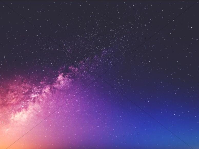 Galaxy Night Worship Background
