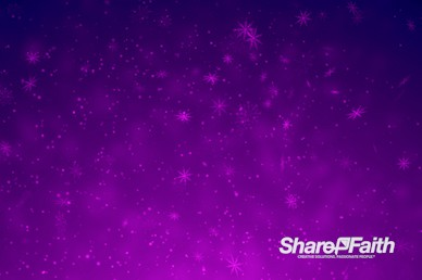 Purple Snowflake Flurry Christmas Particles Worship Video