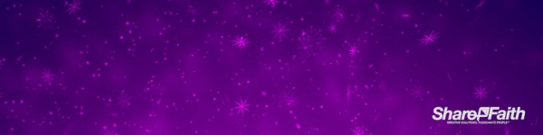 Purple Snowflake Flurry Christmas Particles Multi Screen Worship Video