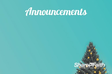 Christmas Tree Holiday Church Announcements Motion Graphic