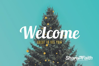 Christmas Tree Holiday Church Welcome Motion Graphic