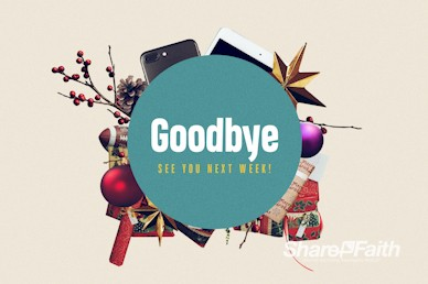 Uncluttered Christmas Church Goodbye Motion Graphic
