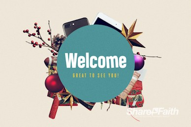 Uncluttered Christmas Church Welcome Motion Graphic