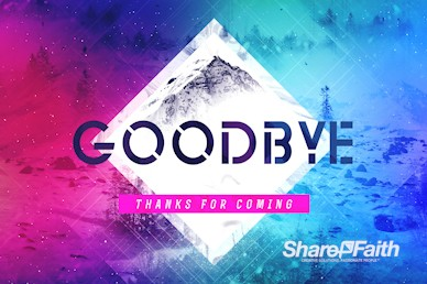 Winter Retreat Goodbye Motion Graphic