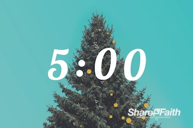Christmas Tree Holiday Church Countdown Video