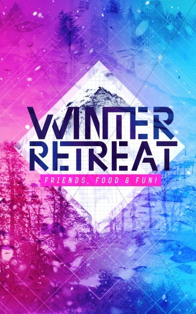 Winter Retreat Church Bulletin Template