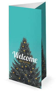 Christmas Tree Holiday Church Trifold Bulletin