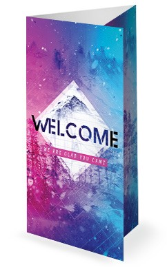 Winter Retreat Church Trifold Bulletin Template