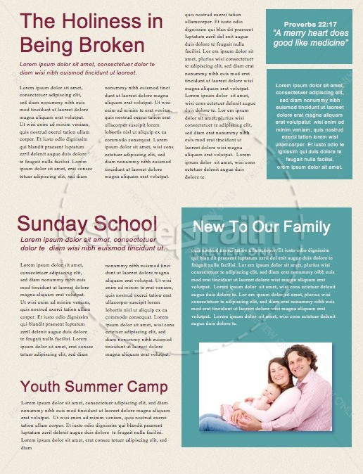 Uncluttered Christmas Church Newsletter | page 2