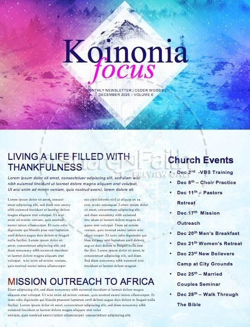 Winter Retreat Church Newsletter Template Template Newsletter - Training newsletter template