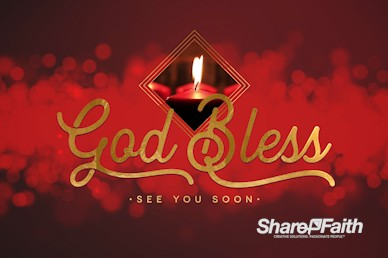 Christmas Church Services Goodbye Motion Graphic