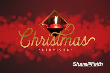 Christmas Church Services Intro Motion Graphic