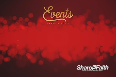 Christmas Church Services Announcements Motion Graphic