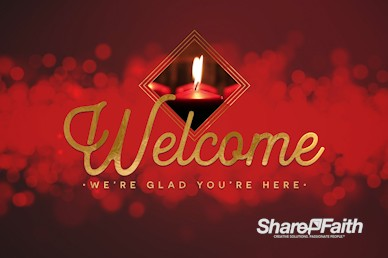 Christmas Church Services Welcome Motion Graphic