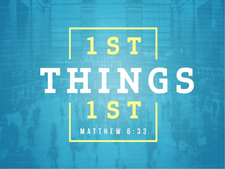 Seek First The Kingdom Of God Sermon PowerPoint