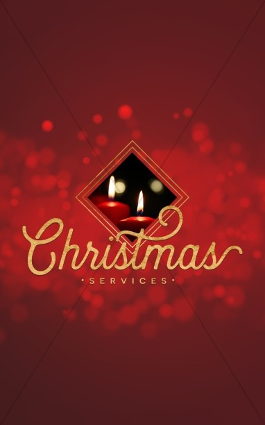 christmas church services bulletin cover