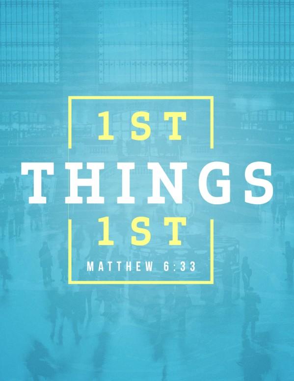 Seek First The Kingdom Of God Church Flyer