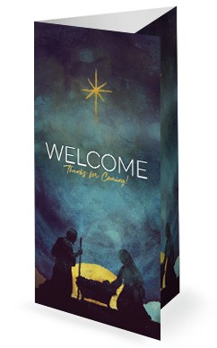 Keep Christ In Christmas Church Tri Fold Bulletin