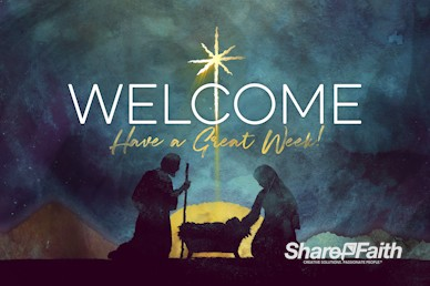 Keep Christ In Christmas Welcome Motion Graphic