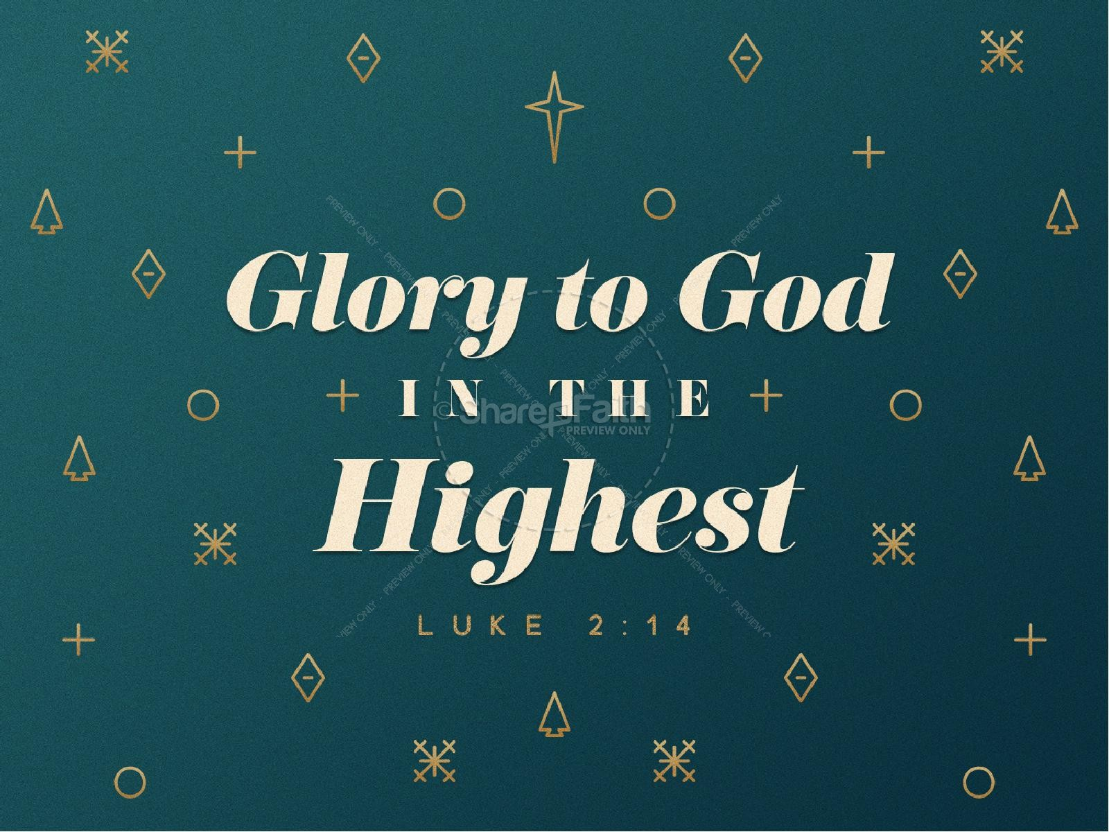 Glory To God In The Highest Christmas PowerPoint