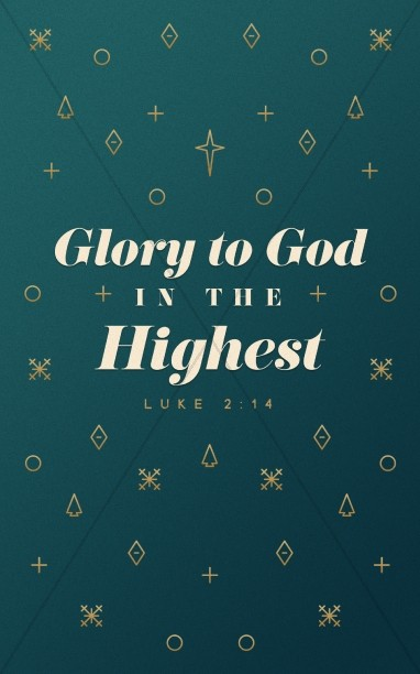 Glory To God In The Highest Christmas Bulletin