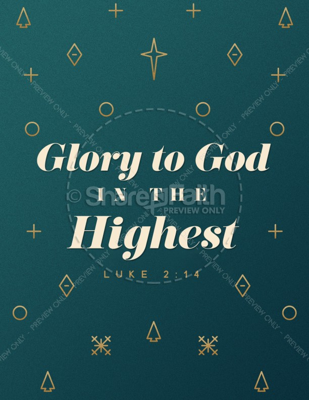 Glory To God In The Highest Christmas Flyer