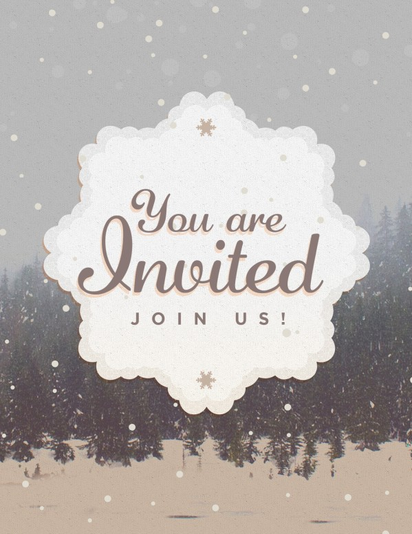 You Are Invited To Christmas Flyer