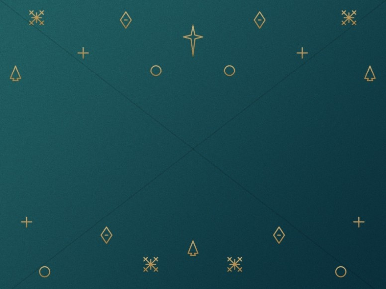 Green And Gold Christmas Worship Background